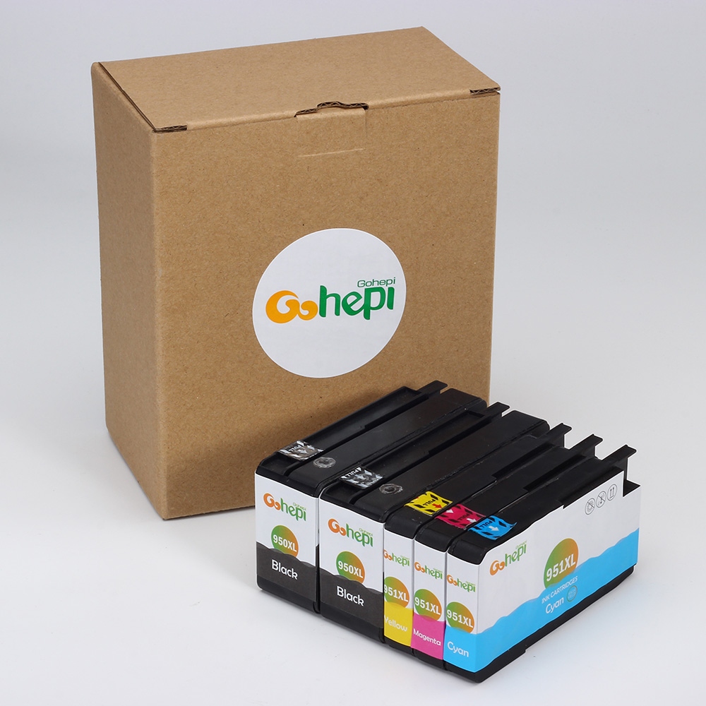Gohepi 950 1Set +1BK Compatible Ink Cartridges for HP